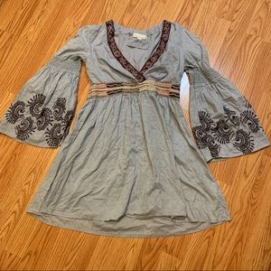 ODD MOLLY 508 Shadowdancer Embroidered Tunic M